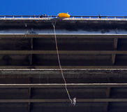 Bungee jumping. From a bridge Stock Photo