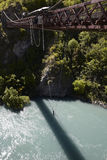 Bungee jumping from a bridge Royalty Free Stock Photo