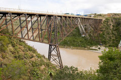 Bungee jumping bridge. The famous Gouritz river bungee jumping bridge in South Africa Stock Photography