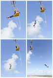 Bungee jumping  Collage Stock Photos