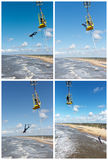Bungee jumping Collection Royalty Free Stock Image