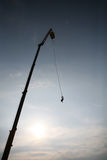 Bungee jumping from crane Stock Photos