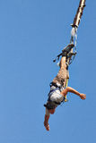 Bungee jumping. Guy in Romania Stock Photo