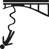 Bungee jumping icon Royalty Free Stock Photography