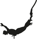 Bungee jumping man Stock Photography