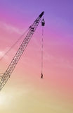 Bungee jumping. Man jumps bungee jumping from a crane stock photo