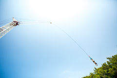 Bungee jumping man Royalty Free Stock Photography
