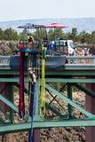 Bungee jumping in Oregon Stock Image