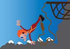 Bungee jumping pazze royalty illustrazione gratis