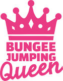Bungee jumping queen Stock Photo