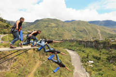 Bungee Jumping Sequence Stock Photos