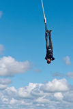Bungee jumping in the sky Stock Photography