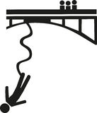 Bungee jumping symbol Royalty Free Stock Photography