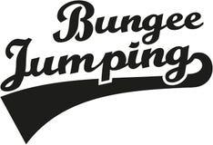 Bungee jumping word Stock Photos