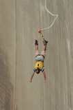 Bungee junp. Bungee jump in southern Switzerland Stock Photography