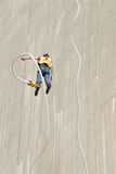 Bungee junp. Bungee jump in southern Switzerland Stock Image