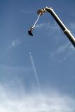 bungee samolotowy doskakiwanie Fotografia Royalty Free