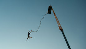 Bungee-sprong Stock Foto's