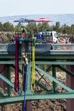 Bungeebanhoppning i Oregon Fotografering för Bildbyråer