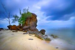 Bungkok海滩Singkep海岛 免版税图库摄影