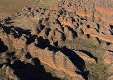 Bungle Bungle range. The Purnululu National Park containing the Bungle Bungle range of sculpted  sandstone rocks in the far north of Western Australia Stock Image