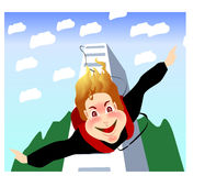 Bungy jump Stock Image