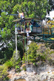 Bungy jump in Taupo New Zealand Stock Image