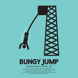 Bungy Jump Vector Illustration Stock Photos