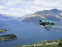 Bungy Jumper. Taking the plunge at the Queenstown Bungy, New Zealand Royalty Free Stock Image
