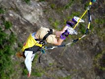 Bungy jumping Royalty Free Stock Photos