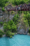 Bungy jumping in New Zealand Stock Image