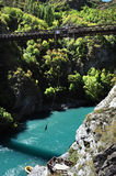 Bungy jumping in Queenstown Stock Image
