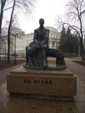 Bunin-` s Monument in Voronezh Stockbild