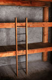 Bunk bed in the cellar Stock Image