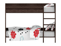 Bunk bed front isolated Royalty Free Stock Images