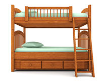 Bunk bed isolated on white background Royalty Free Stock Photo
