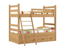 Bunk bed isolated. At the white background Stock Photography