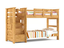 Bunk bed isolated Royalty Free Stock Images