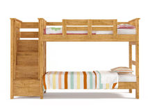 Bunk bed isolated Royalty Free Stock Photo