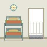 Bunk Bed With An Open Door Stock Image