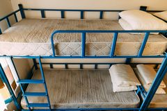 Bunk bed room stock photo