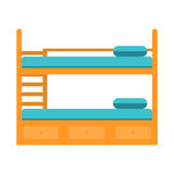Bunk bed with stairs,wooden bunk decker bed. Stock Photography