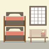 Bunk Bed With Wooden Chair Royalty Free Stock Photos
