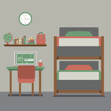 Bunk Bed With Workspace Royalty Free Stock Image