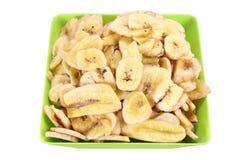 Bunke av bananchiper royaltyfria foton