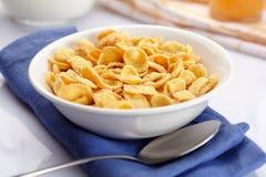 Bunke av cornflakes royaltyfri foto