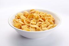 Bunke av cornflakes royaltyfria foton