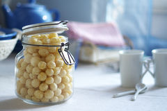 Bunke av cornflakes Royaltyfri Fotografi