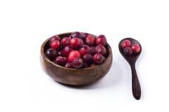 Bunke av cranberries Fotografering för Bildbyråer