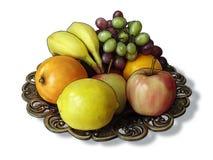 Bunke av frukt Arkivfoton